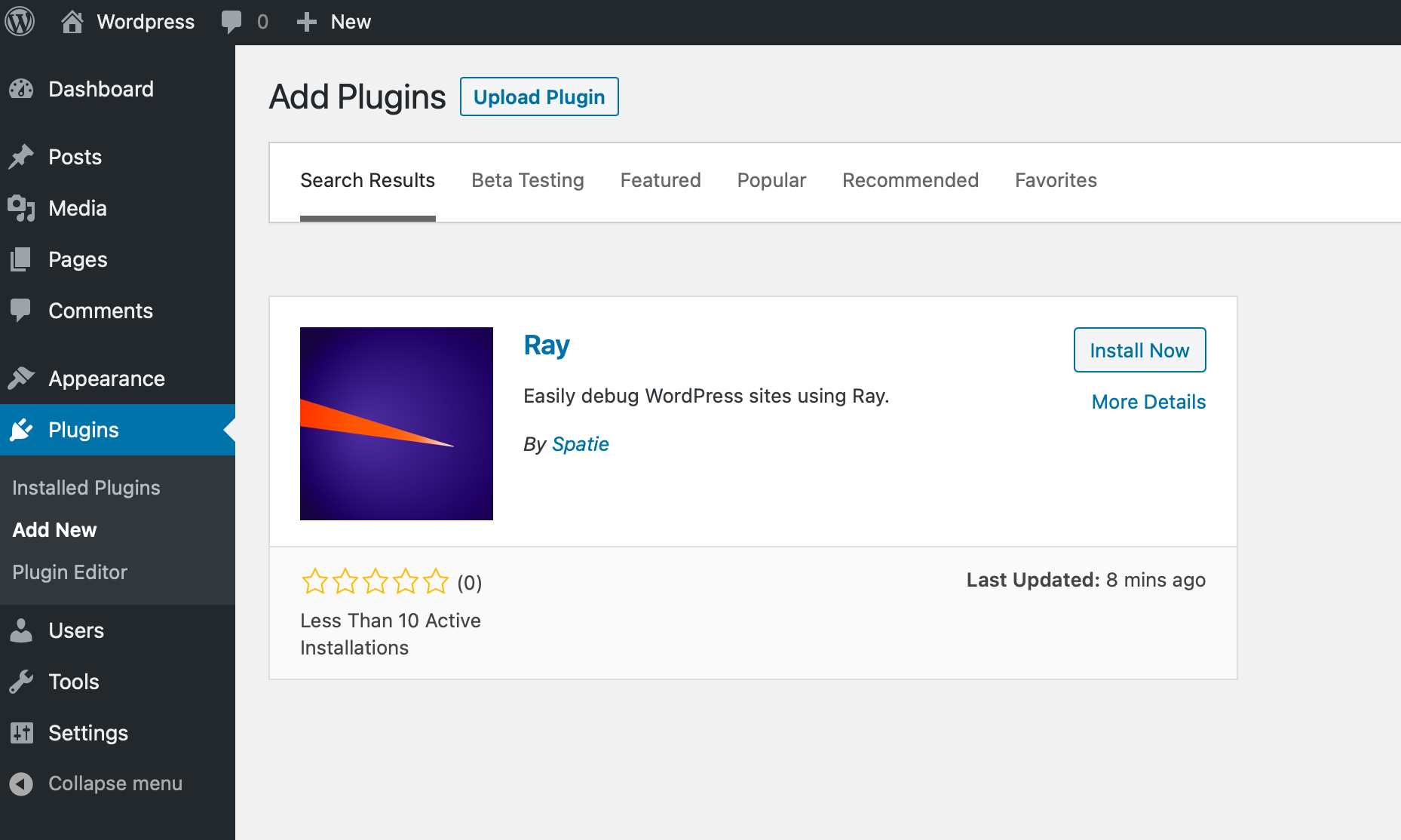 Ray loves WordPress